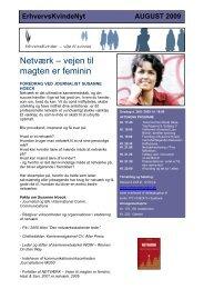 Netværk – vejen til magten er feminin - Foreningen af Erhvervskvinder