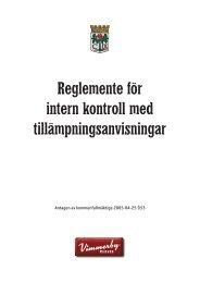 Reglemente för intern kontroll med tillämpningsanvisningar