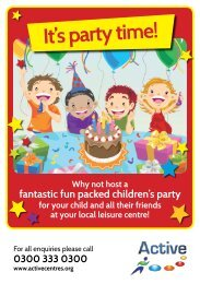 It's party time! - Active Centre