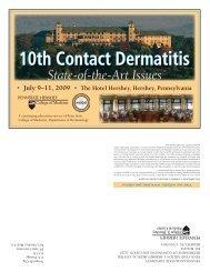 10th Contact Dermatitis - American Contact Dermatitis Society
