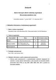 Akreditačný dotazník za roky 2007 – 2011 - Slavistický ústav Jána ...