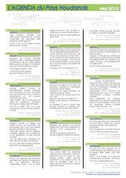 Mercredi 1er Mail Du 3 au 30 Mail Samedi 4 Mai Les 4 et 5 Mai ...