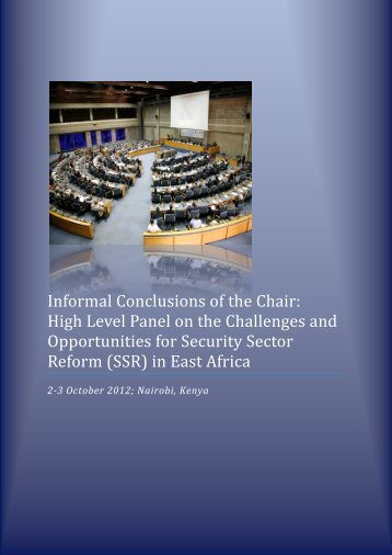 Informal conclusions of the Chair.pdf - ISSAT - DCAF