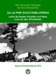 Der Alpine Schutzwaldpreis 2013 - Ausschreibung - im St.Galler Wald