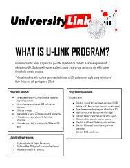 WHAT IS U-LINK PROGRAM? - Santa Ana College