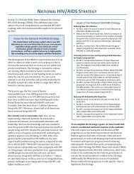 FACT SHEET: National HIV/AIDS Strategy (NHAS) - AIDS.gov