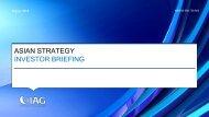 Asian strategy investor briefing presentation - IAG