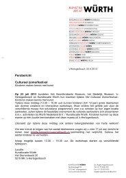 lees het persbericht - Würth Nederland