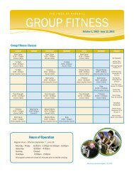 Group Fitness - Parkhill - Fall 2010.indd - YMCAs