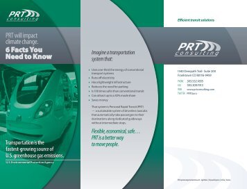 pdf: PRT will impact climate change - PRT Consulting