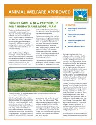 Fall 2008 Animal Welfare Approved Newsletter