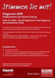 Publikumspreiskarte - diagonale 2009