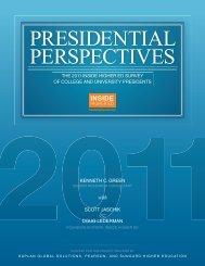 PRESIDENTIAL PERSPECTIVES - Inside Higher Ed