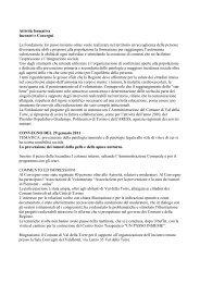 Attività formativa Incontri e Convegni La Fondazione Un passo ...