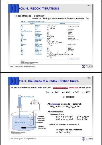 redox titration lab report Redox titration are here the titrant is an it is convenient for redox titrations to monitor the titration reaction's report the ore's iron.