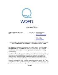 SUZE ORMAN'S MONEY CLASS - WQED