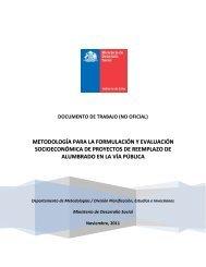 metodología para la formulación y evaluación socioeconómica de ...