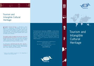 Tourism and Intangible Cultural Heritage - Ethics and Social ...