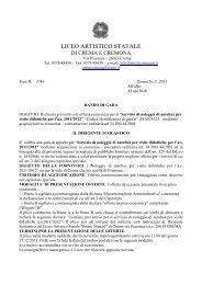 bando per noleggio pullman - Liceo Artistico Bruno Munari