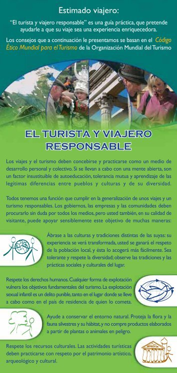 el turista y viajero responsable - Ethics and Social Dimensions of ...