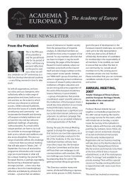 The Tree 23 - Academia Europaea