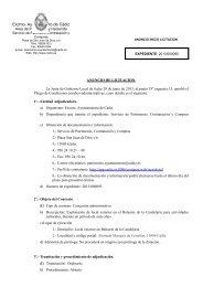 ANUNCIO INICIO LICITACIÓN - PERFIL (269 kb). - Ayuntamiento de ...
