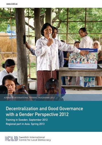 Decentralisation and Good Governance with a Gender ... - ICLD