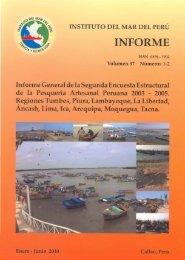 Informe vol. 37 números 1-2, Informe general de la ... - Imarpe