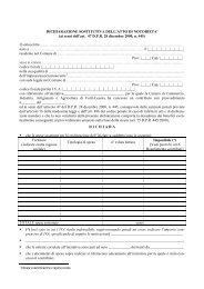 Dichiarazione sostitutiva di atto notorio 2007 - Camera di ...
