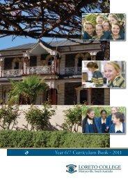 Year 6/7 Curriculum Book - 2011 - Loreto College