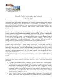 Gruppo II – Profili di una nuova governance territoriale Sintesi ... - Fish