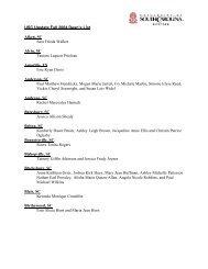 USC Upstate Fall 2004 Dean's List