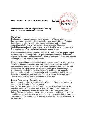 Das Leitbild der LAG anderes lernen - Landesarbeitsgemeinschaft ...