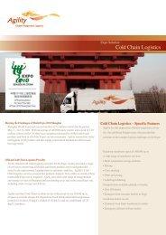 Cold Chain Logistics - Agility