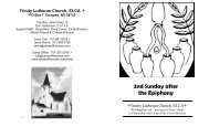 2nd Sunday after the Epiphany - Camp of the Cross Ministries