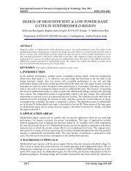 design of high efficient & low power basic gates in ... - IJAET