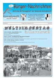 Bürger-Nachrichten Bürger-Nachrichten - Konradsreuth
