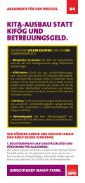 Argumentationskarte 4: Kitas statt Betreuungsgeld - SPD Hessen
