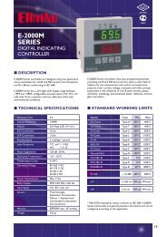 E-2000M Series Digital Indicating Controller - Elimko
