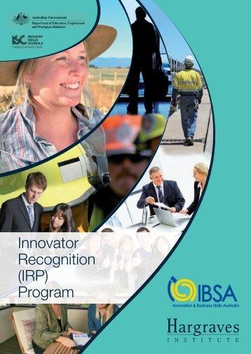 Innovator Recognition Program (IRP) - Innovation & Business Skills ...