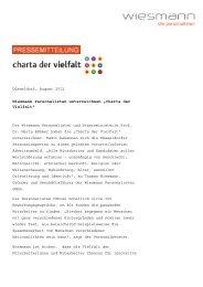 Pressetext anzeigen (PDF) - Wiesmann - die personalisten
