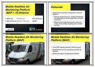 Mobile Realtime Air Monitoring Platform -MAP × 18 Districts ...