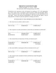 Presence Questionnaire (PQ)