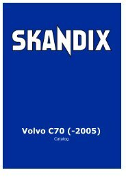 SKANDIX Catalog: Volvo C70 (-2005) - SaabtuninG