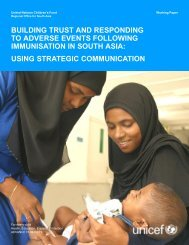 building trust and responding to adverse events following - Unicef