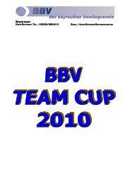 Ausschreibung Team Cup 20101 - Bayreuther Bowlingverein