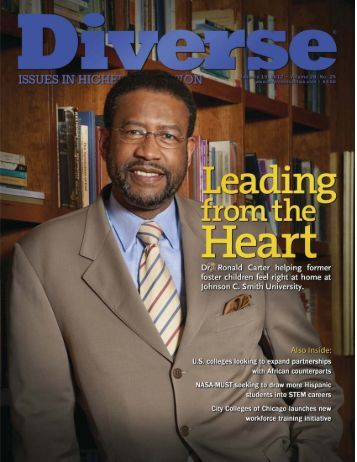 Ronald Carter helping former - Johnson C. Smith University