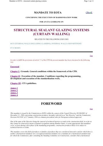structural sealant glazing systems (curtain walling)