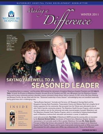 SEASONED LEADER SEASONED LEADER - Waterbury Hospital