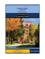 President Leadership Profile - Witt/Kieffer